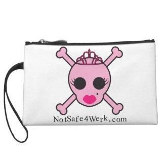 NotSafe4Werk.com Pink Skull Wrist Bag