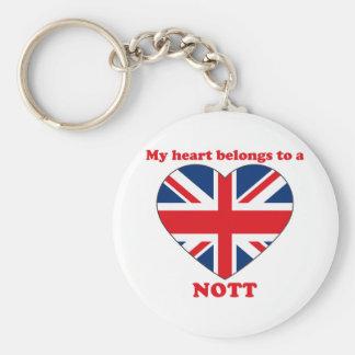 Nott Basic Round Button Key Ring