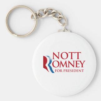 NOTT ROMNEY.png Basic Round Button Key Ring