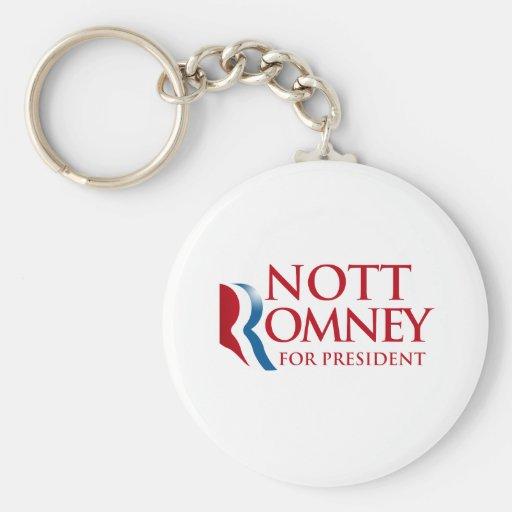 NOTT ROMNEY.png Keychain