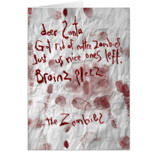 Nottee (Naughty) zombies Greeting Card