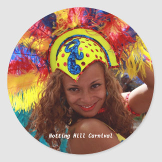 Notting Hill Carnival Round Sticker