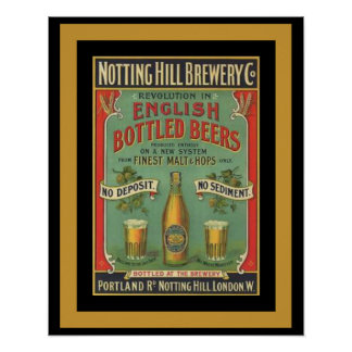 Notting Hill English Beer Poster