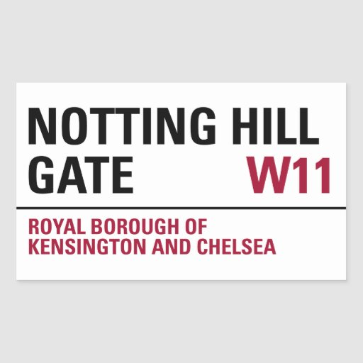 Notting Hill Gate Sign (pack of 4) Rectangle Sticker
