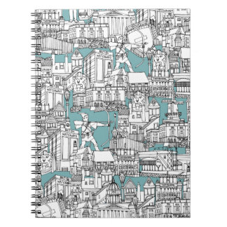 NOTTINGHAM BLUE NOTEBOOK