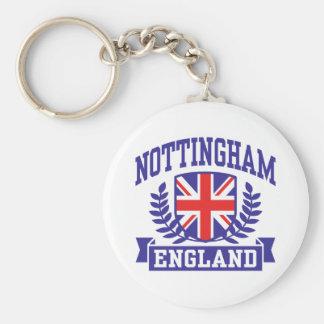 Nottingham England Basic Round Button Key Ring