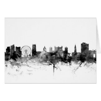 Nottingham England Skyline Card