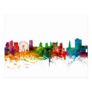 Nottingham England Skyline Postcard