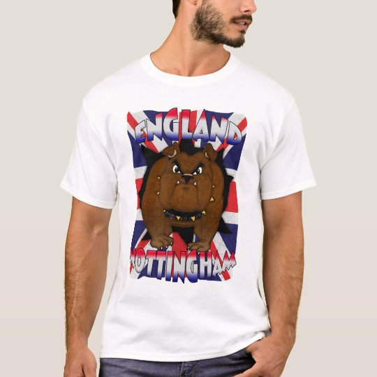 Nottingham England T Shirt British Bulldog
