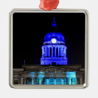 Nottingham Silver-Colored Square Decoration