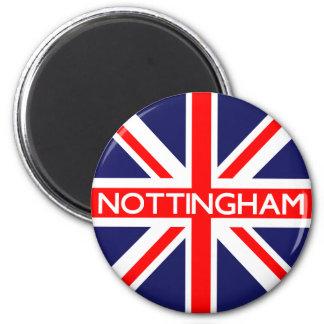 Nottingham UK Flag 6 Cm Round Magnet