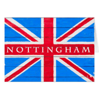 Nottingham - Vintage British Union Jack Flag Card