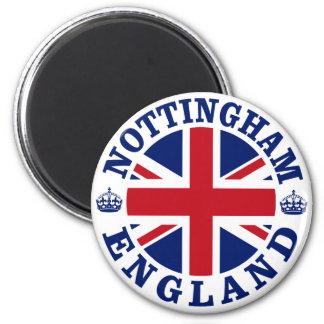 Nottingham Vintage UK Design 6 Cm Round Magnet