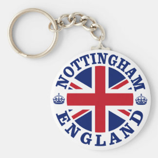 Nottingham Vintage UK Design Basic Round Button Key Ring
