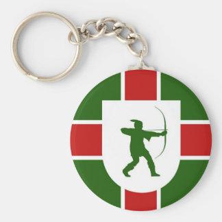 nottinghamshire region flag england robin hood basic round button key ring