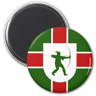 nottinghamshire region flag england robin hood magnet