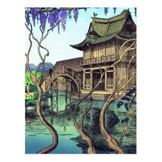 Nouet Noel Kameido shin hanga japanese scenery Postcard