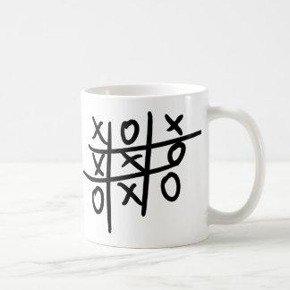 noughts and crosses - tic tac toe coffee mug