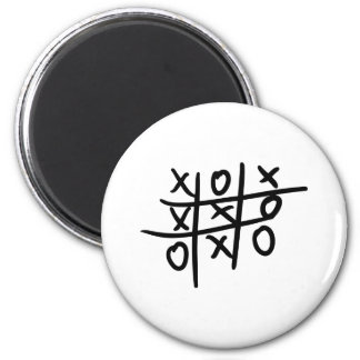 noughts and crosses - tic tac toe magnets