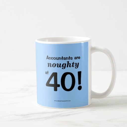 Noughty at 40 - 40th birthday coffee mugs