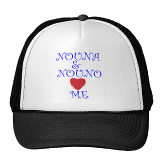 NOUNA AND NOUNO LOVE ME CAP