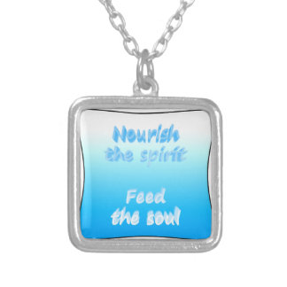 Nourish the spirit. Feed the soul Silver Plated Necklace