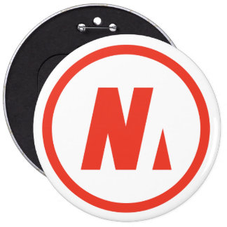 Nousmotards swipes in 6 cm round badge