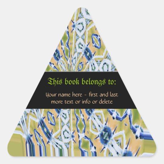 Nouveau Batik Bookplate Personalised Stickers