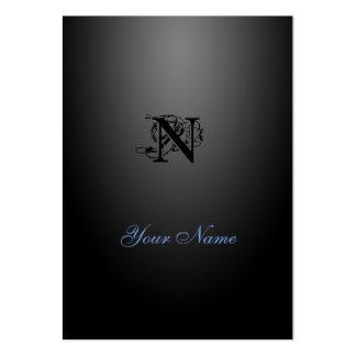 Nouveau Black Elegant Style Business Card Template