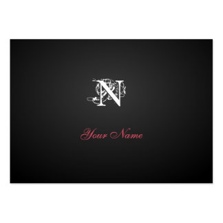 Nouveau Black Modern Rubis Business Card Template