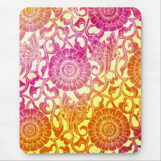 Nouveau Butterflies - Brilliant Sunset Mouse Mat