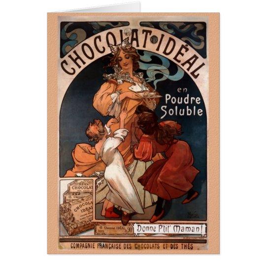 Nouveau Chocolate Birthday Card