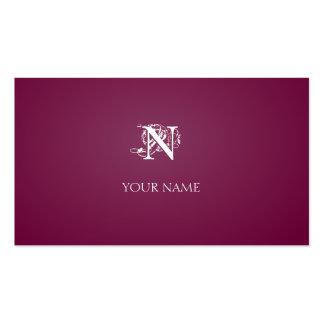 Nouveau Crimson Pack Of Standard Business Cards
