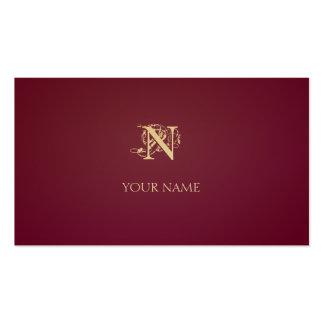 Nouveau Crimson Golden Business Card Templates