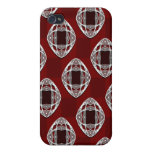 Nouveau Eye Chequerboard Brick Red iPhone 4 Cases