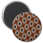 Nouveau Eye Chequerboard Brown Magnet