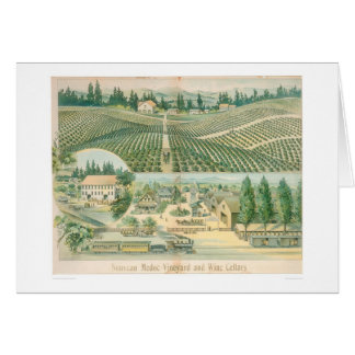 Nouveau Medoc Vineyard and Wine Cellars (1213A) Greeting Card