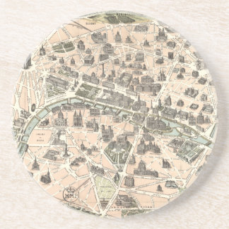 Nouveau Paris Monumental Map Coaster