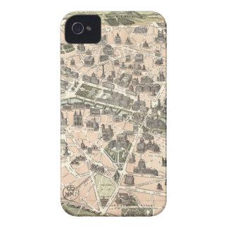 Nouveau Paris Monumental Map iPhone 4 Case-Mate Case
