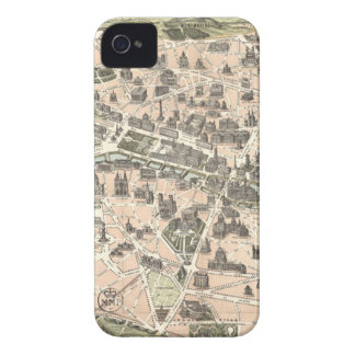 Nouveau Paris Monumental Map iPhone 4 Case-Mate Cases