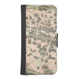 Nouveau Paris Monumental Map iPhone SE/5/5s Wallet Case
