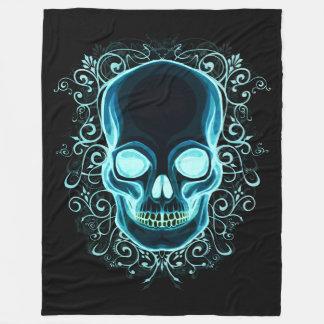 Nouveau Skull Fleece Blanket