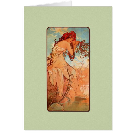 Nouveau Summer Girl Note Card