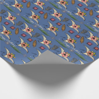 Nouveau Swan - Name the Occasion - Personalize Wrapping Paper