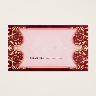 Nouveau Victorian: Red & Gold Table Escort Card