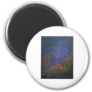 Nouveau Well at twilight 6 Cm Round Magnet