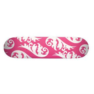 Nouveau white fuchsia skateboard decks