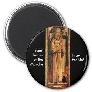 Nov 28 St James of the Marche Refrigerator Magnets