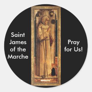 Nov 28 St. James of the Marche Round Sticker