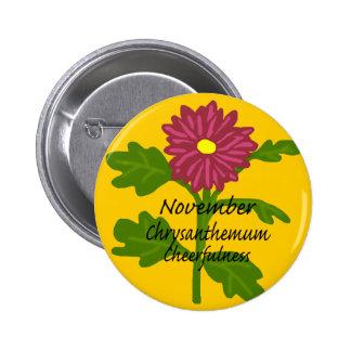 Nov Chrysanthemum Cheerfulness button